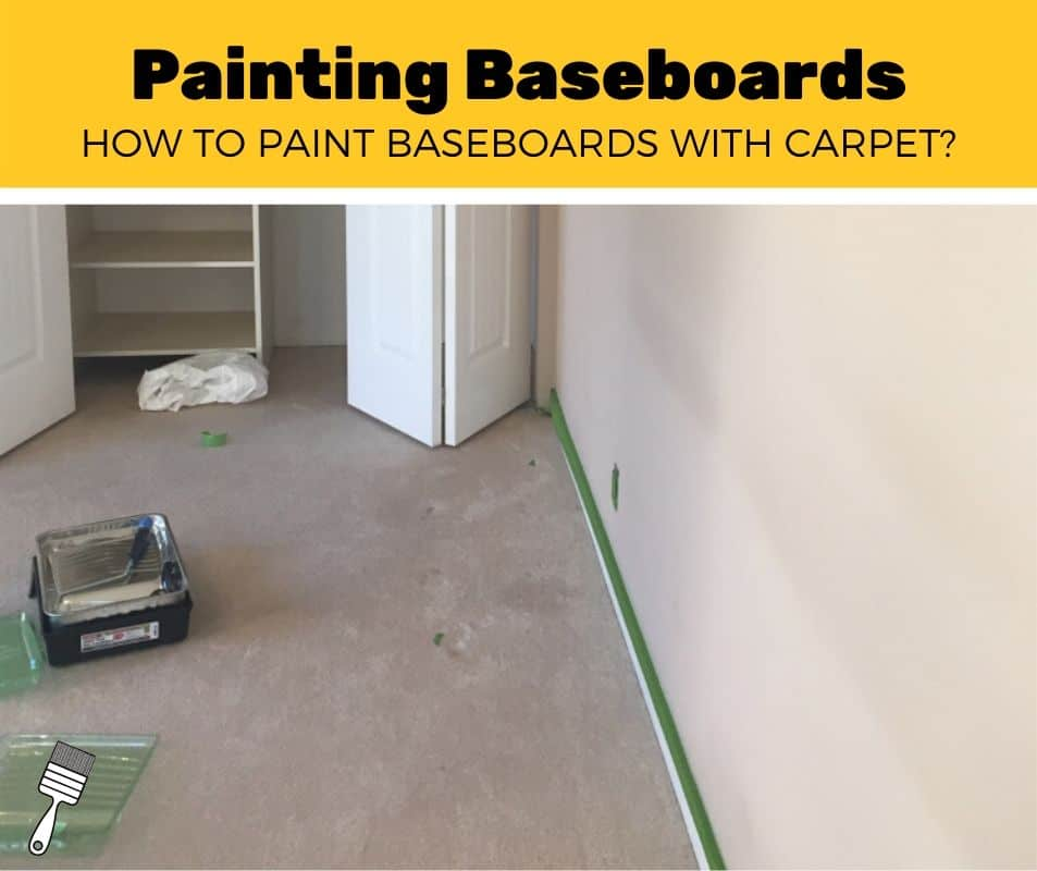 how to paint baseboards with carpet near trim