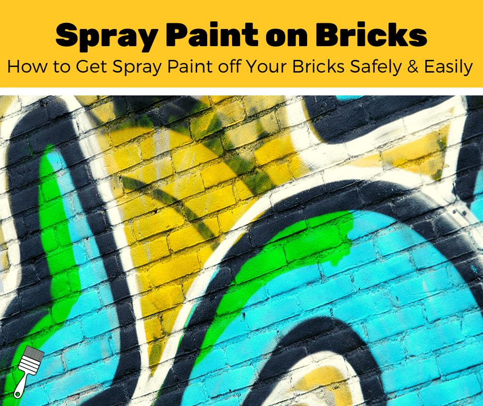 Spray paint graffiti on a brick wall