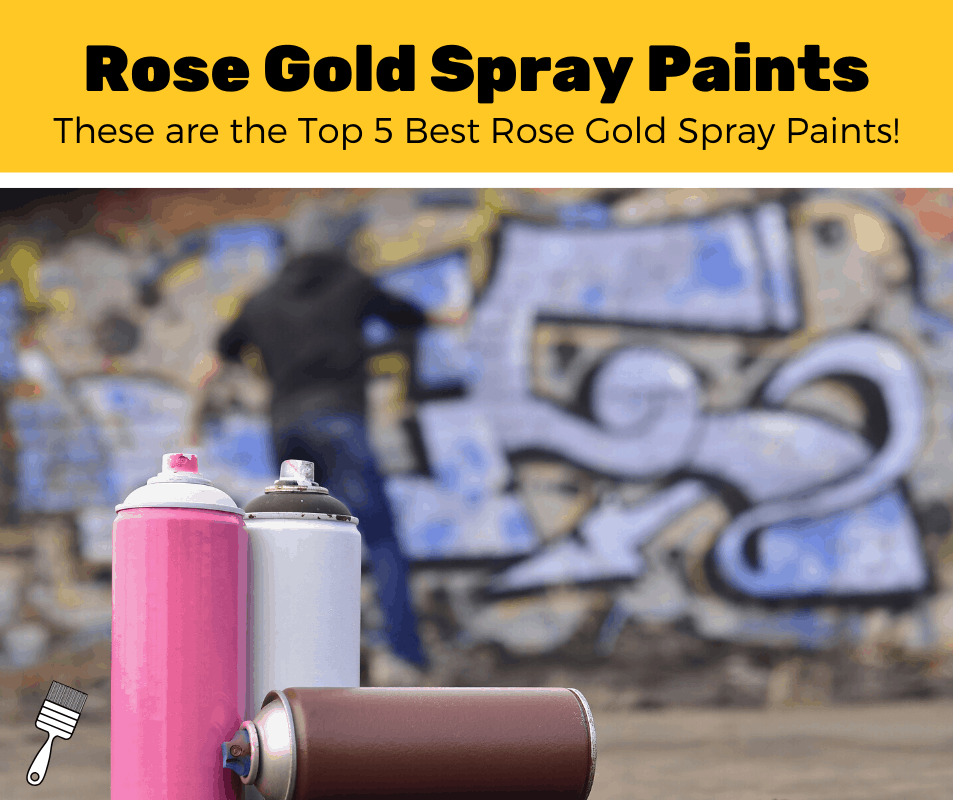 2 cans of rose gold spray paint