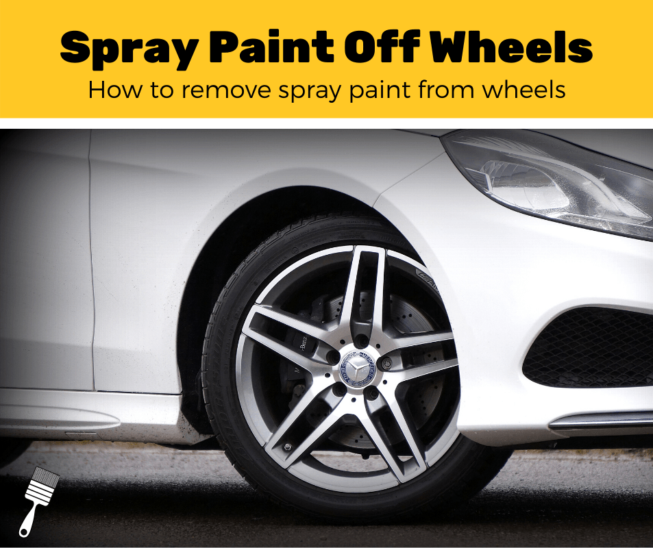 Spray paint off wheels
