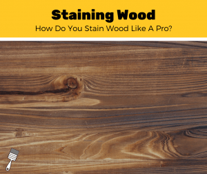 How To Stain Wood? (5-Step Guide)