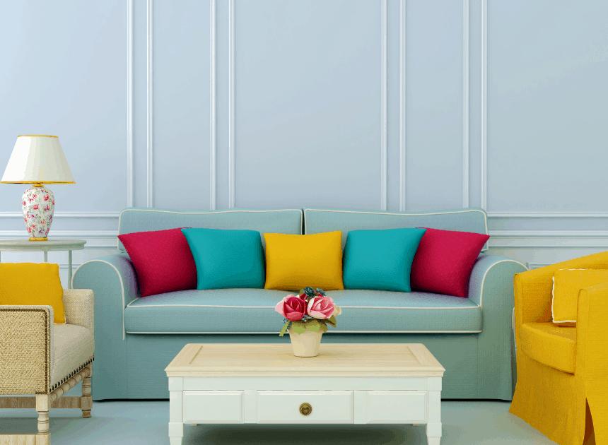 Interior design color palette